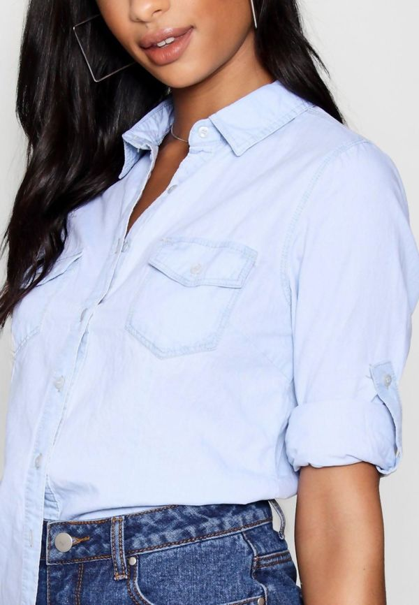 Plus Size Denim Shirt